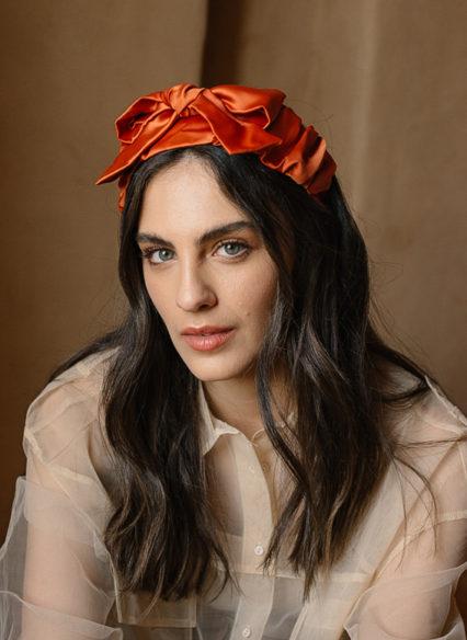 sana bow with Papillon orange (2)